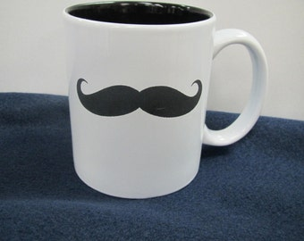 Customizable Mustache Mug