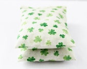 Organic Lavender Scented Sachet Bags, Lucky Green Clover, Cotton Anniversary Gift