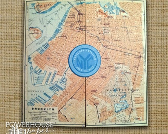 Brooklyn Antique Map Wedding Invitation  • DIY • We professionally print • you assemble