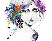 Exotic Girl // A3 Giclée print // FASHION ILLUSTRATION