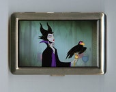 Maleficent Sleeping Beauty Inspired Business Card Case Wallet Cigarette Case