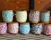 Wood Spools of Baker's Twine - Select Your  Color