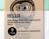 draw your own monster - googly eyes notebook - DIY