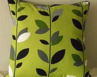 Spring Green Leaves Pillow Cover 18x18