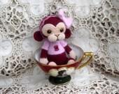 Artist Bear OOAK Crocheted Thread Teddy Monkey Crochet Amigurumi