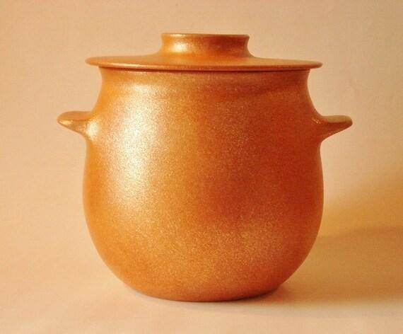 Bean Pot 4.5 qt, Handmade Micaceous Cookware, Ceramic Casserole, Southwestern Pottery, Santa Fe (53)