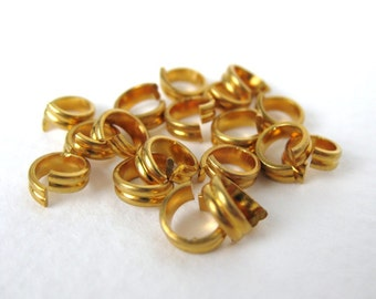 Vintage Jump Ring Fancy Double Gold Plated Metal Bead 6mm vfd0199 (18)