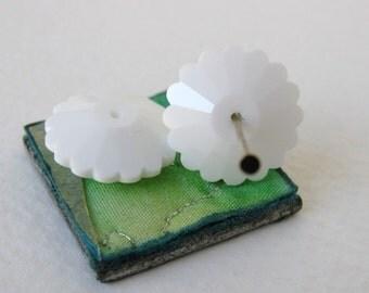 Vintage Swarovski Crystal Beads White Margarita Flower Article 3701 16mm swa0358 (2)