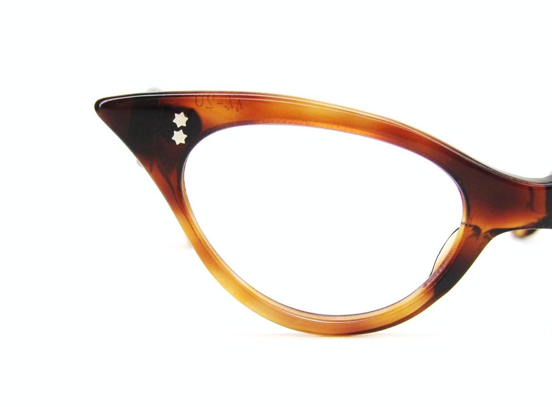Vintage 50s French Cat Eye Eyeglasses Frames