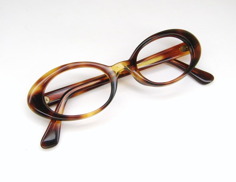 Vintage 60s Tortoise Cateye Eyeglasses by Vintage50sEyewear