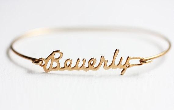 Vintage Name Bracelet Beverly  Vintage Name Br...