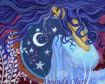 Goddess Astarta art  print by Amanda Clark