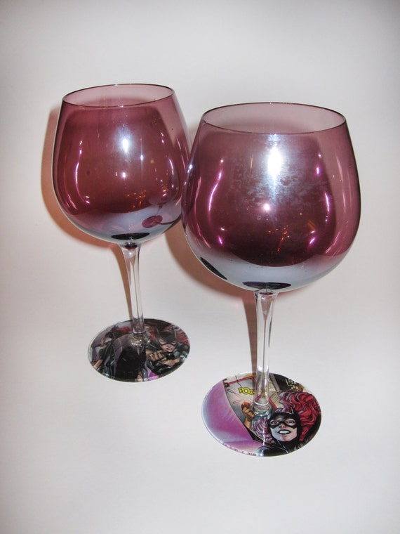 Batgirl Wine Glasses