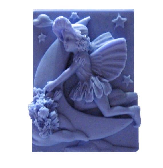 Crescent Moon - Fairy Soap - Organic Soap - Decorative Soap -  Glycerin Soap - Moisturizing Soap -  Essential Oil Vanilla