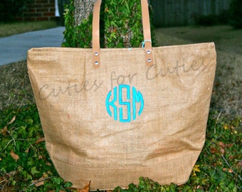Monogrammed Beach Tote Personalized Beach Bag