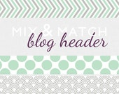 Blog header - colorful geometric patterns in a customized header
