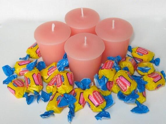 BUBBLE GUM (4 votives or 4-oz soy jar candle)