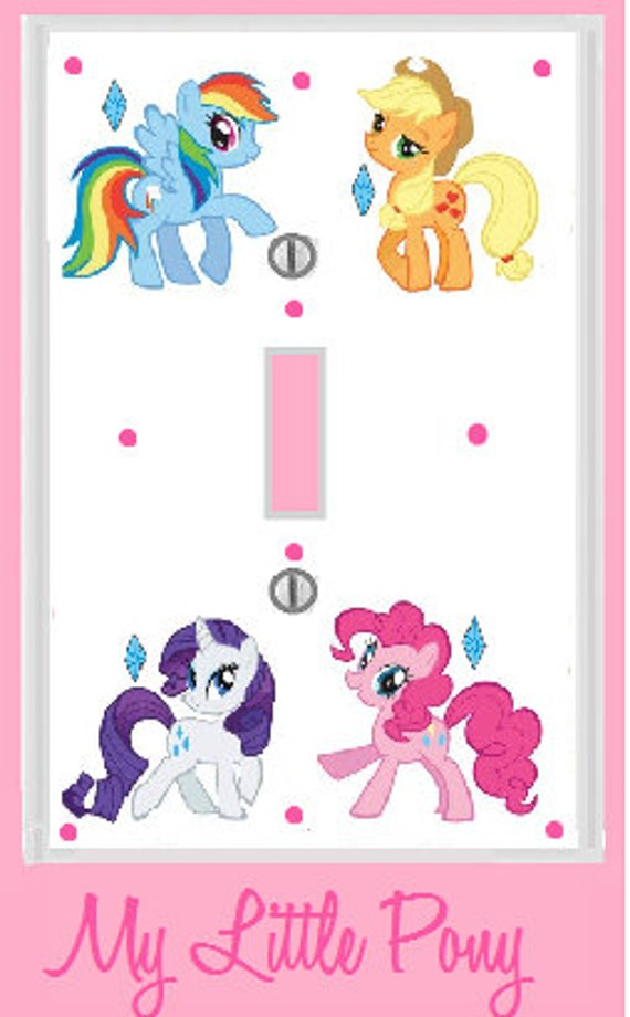 items similar to my little pony room decor light plate cover