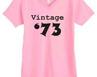 Vintage 73 ladies shirt 40th birthday 1973