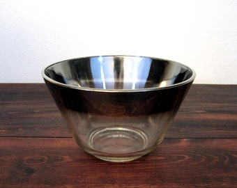 Vintage Dorothy Thorpe Style Chip or Serving Bowl / Silver Ombre Bowl
