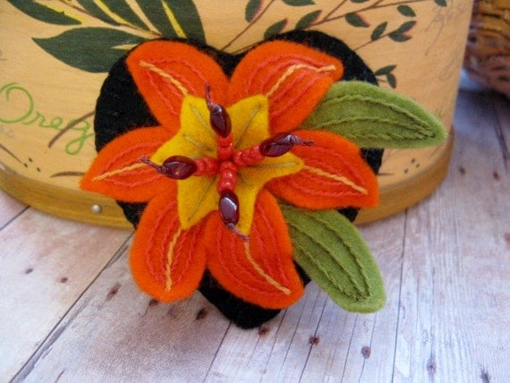 Tiger Lily Brooch - Ready To Ship
