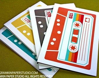 Mixtape- Set of 4 Notecards