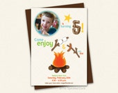 Get Campy - Camping Birthday Invitation