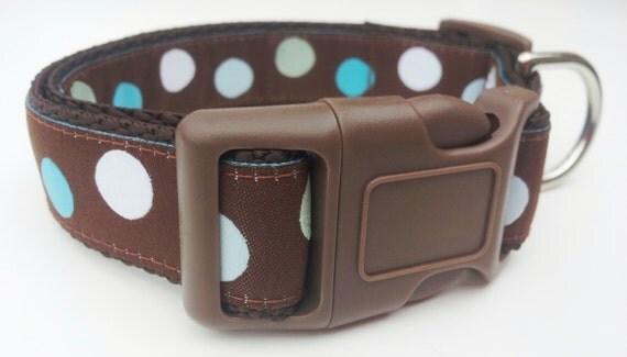 Mod Livin - Dog Collar / Adjustable / Handmade / Pet Accessories / Dots