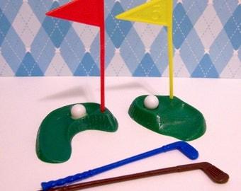 2 Sets Golf Peices Cucake- Cake Topper