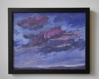 Moody Sky -- original skyscape painting