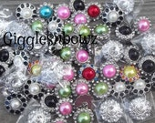 Rhinestone Buttons- GiGGLeSNBoWZ GRaB BaG of Buttons- SECOND QUaLiTY DeSTaSH 20 pieces