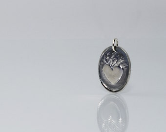 Ardor Charm in Fine Silver and Sterling Silver