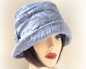 Women's Cloche, Vintage Inspired Alice Hat, Powder Blue, Downton Abbey Style, Soft Comfortable Cloche, Trendy Hat, Stylish Chemotherapy Hat