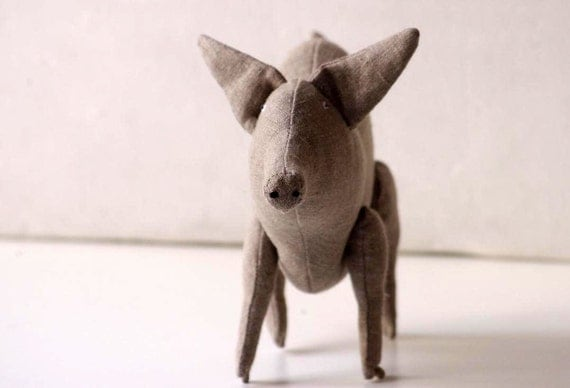 Eco Friendly Piggy from natural not dyed linen.
