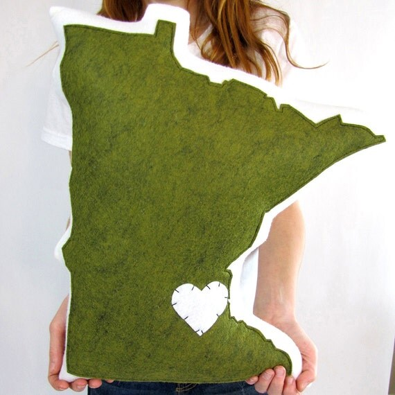 Customizable Minnesota State Pillow