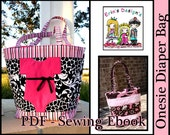 Erins Designs -Onesie Diaper Bag- Sewing Pattern PDF For a Baby Girl or Boy ebook