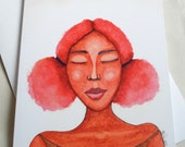 Afro Caribbean Greeting Card - 'Five Minutes of Peace'