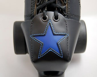 Leather Toe Guards with Cobalt Blue Stars