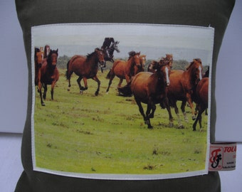 Herd of Horses Cushion Cover