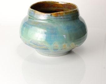 Salt Cellar, Standing Salt Pot,  Handmade Turquoise Salt Cellar