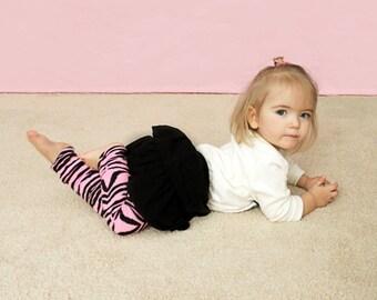 Pink Zebra Baby Leg Warmers