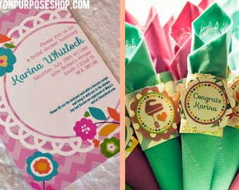 Recipe for Love Bridal Shower Decorations Fully Assembled