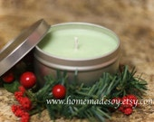 SALE - 8oz MISTLETOE Soy Candle Travel Tin