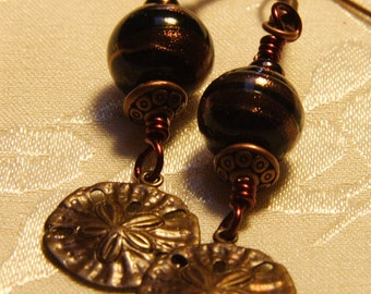 Copper Sand Dollar Earrings