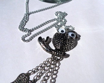 Googly Eye Owl with Leaves