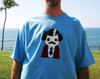 Stay Crafty... Burgundy Jacket Man Mens T-Shirt