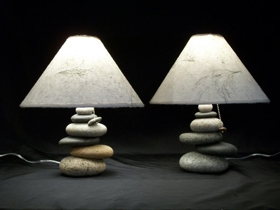 Bedside Lamps Set Of Balance Rock Lamps