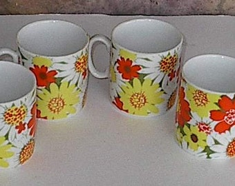 Vintage Flowered  Chadwick Miller Cups