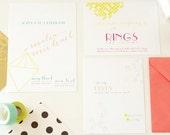 Neon Diamonds - Printable Wedding Invitation
