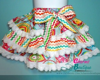 SEW FRILLY Skirt Pattern -  New Easy Circle Flounce Design - PDF Sewing Pattern Sizes 12 Months - 6 Child, Downloadable Printable